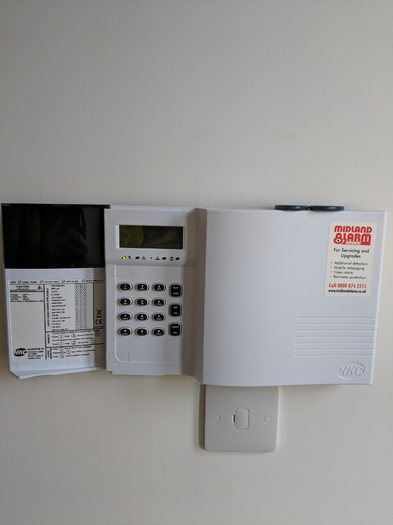 Tamworth, Staffordshire - Installing a new Hkc alarm system with shock sensors and WiFi