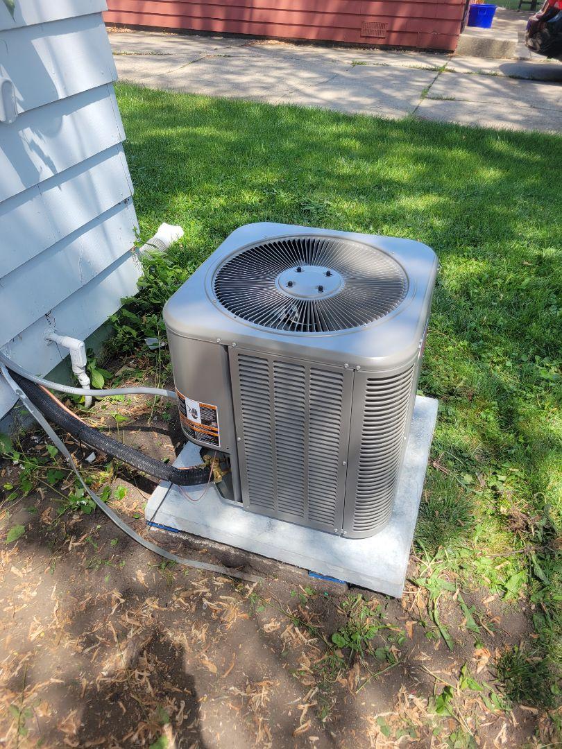 Villa Park, IL - Air conditioner install