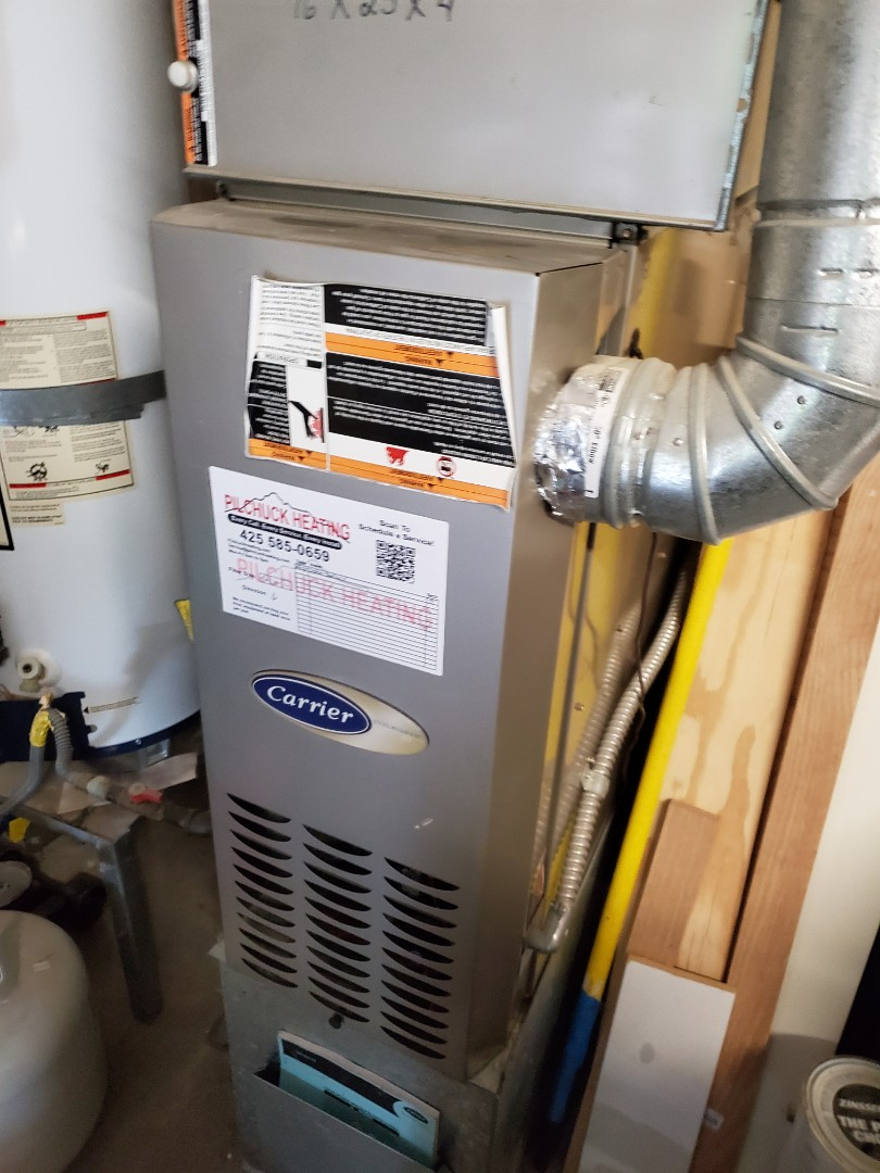 Snohomish, WA - Doing a service on a carrier furnace for a great costumer in Snohomish