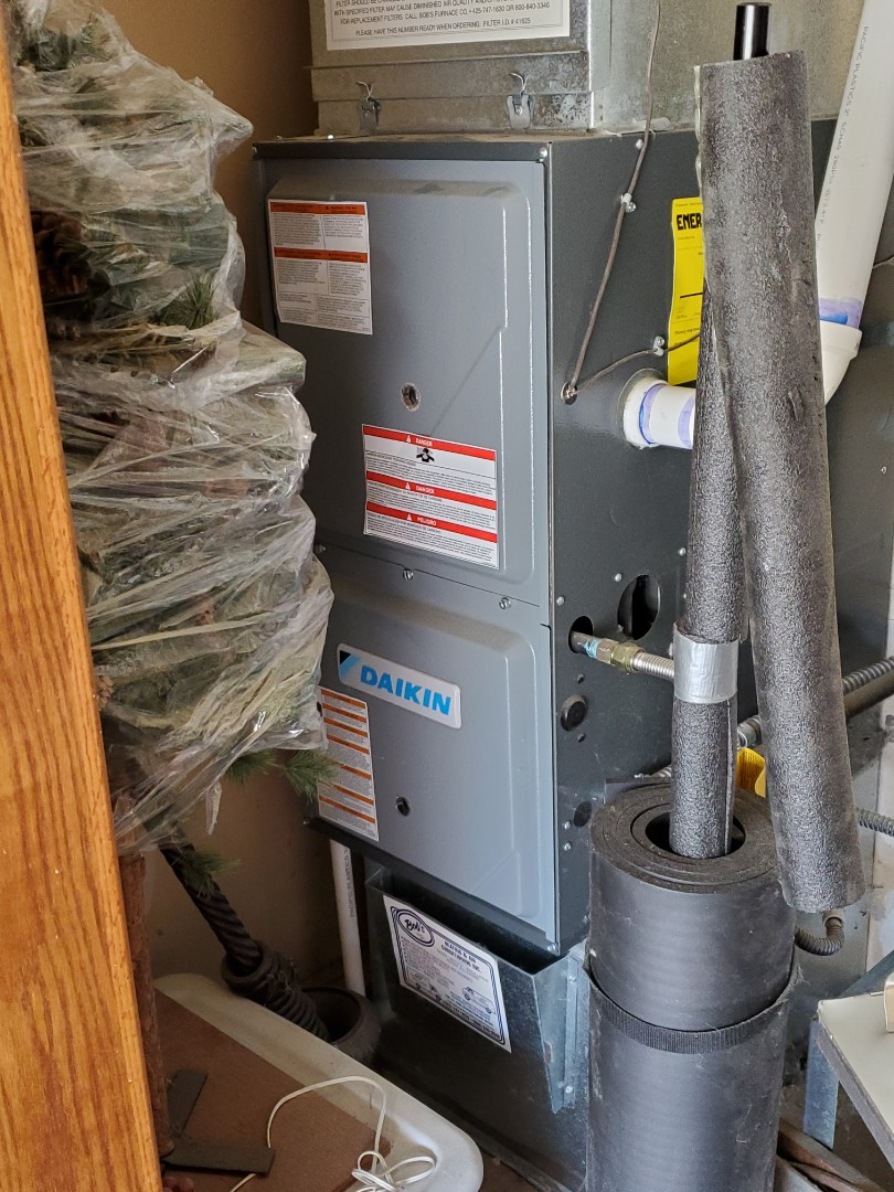 Snohomish, WA - Performing annual maintenance on a high efficiency Daikin furnace for a great customer in Snohomish