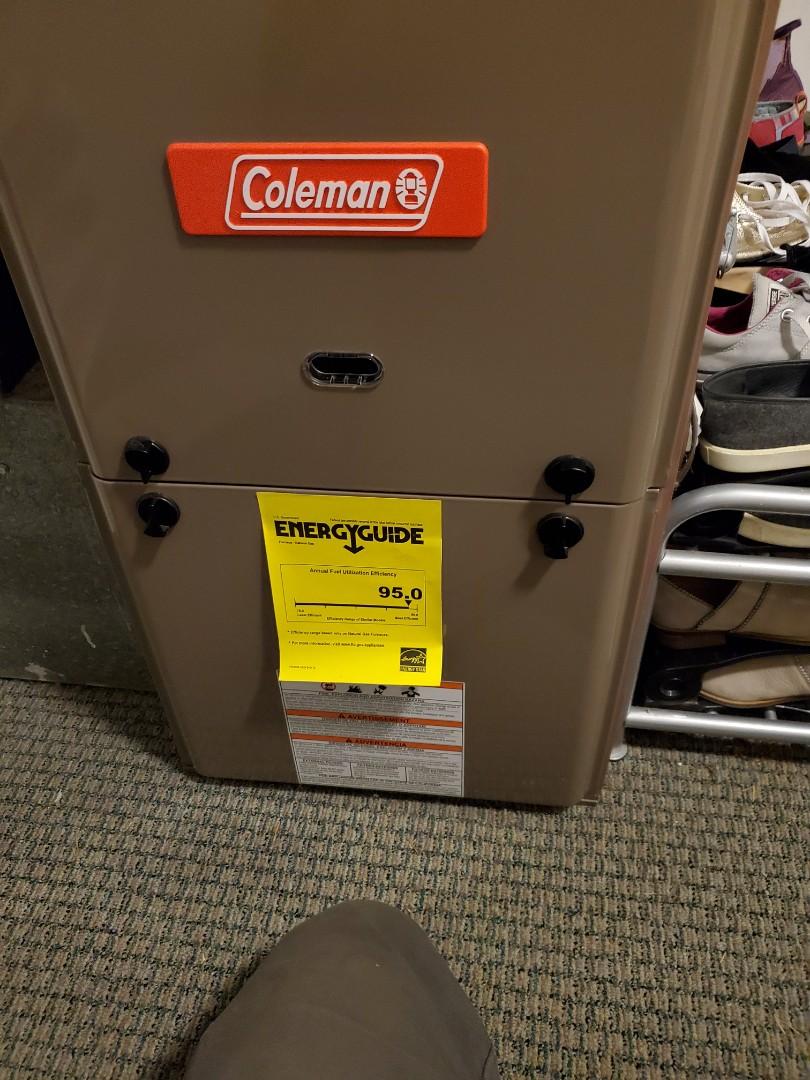 Shoreline, WA - Servicing a Coleman furnace for a great customer in shoreline