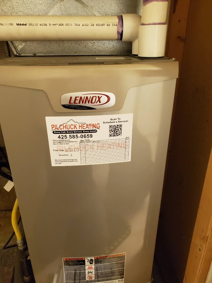 Seattle, WA - Servicing a Lennox furnace for a great customer in Seattle