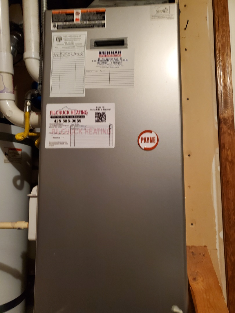 Snohomish, WA - Servicing a Payne furnace for a great customer in the Willis D Tucker community of Snohomish