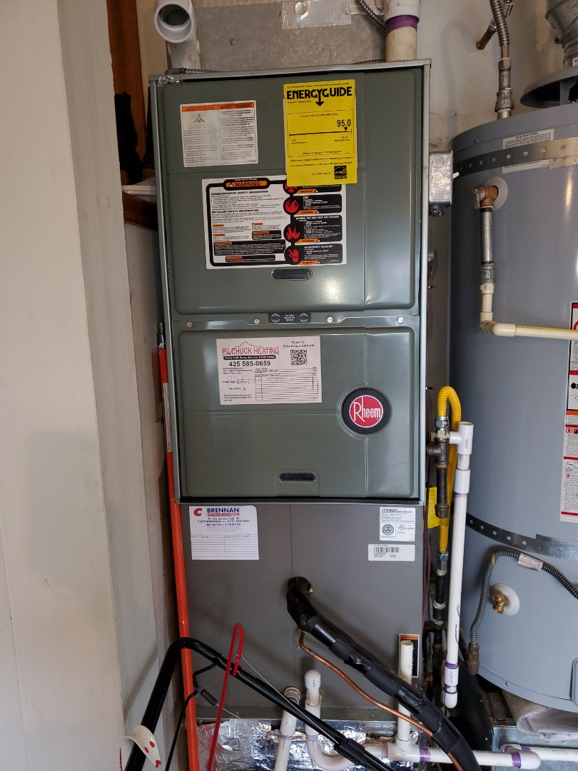 Redmond, WA - Servicing a Rheem furnace for a great customer in the marymoor hill area of Redmond