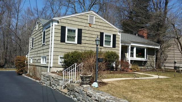 Stamford, CT - Burr's Area Manager provided an estimate for this home in Stamford, CT to replace the existing cedar with James Hardie fiber cement clapboard. The homeowners are thrilled to officially be on the schedule! We can't wait to watch this transformation.