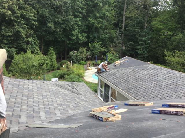 Darien, CT - CertainTeed roofing in Darien, CT! The Burr team replaced the entire existing roof with CertainTeed Landmark Pro shingles in Driftwood to compliment the siding color.