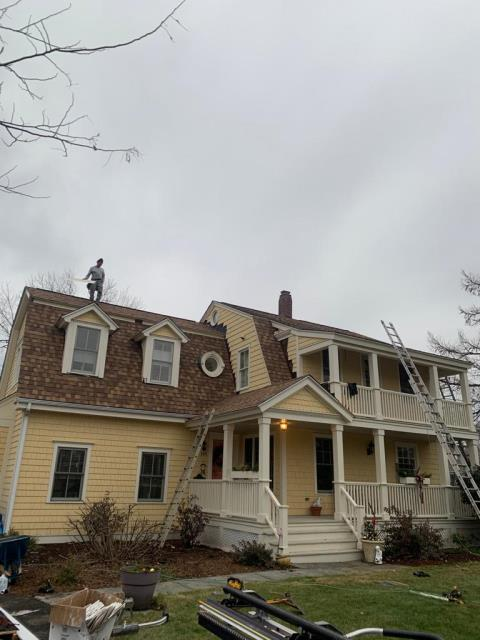 Milford, CT - In progress roof replacement in Milford, CT. We are installing CertainTeed's Landmark Pro shingle line. The featured color is Resawn Shake.
