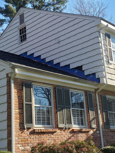 Westport, CT - Proper roof replacement requires replacing the existing step flashing with new copper step flashing to align with the new shingles. Replacing step flashing requires removal of siding along any roof to sidewall areas. Once the step flashing is replaced, siding will be reinstalled and may require minor painting.