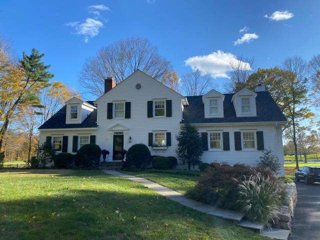 Darien, CT - Final product in Darien! This homeowner chose CertainTeed Landmark Pro shingles in Moire Black. These shingles come with a Limited Lifetime warranty, paired with 10 years of guaranteed algae protection.
