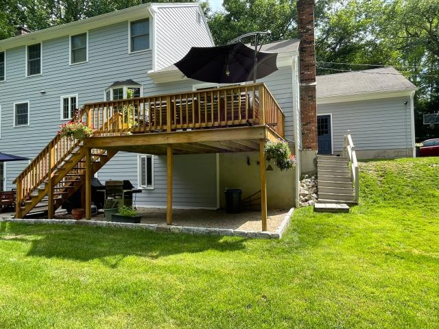 Fairfield, CT - This Fairfield homeowner is interested in a deck update. This will entail replacing the old and expanding for a new deck.