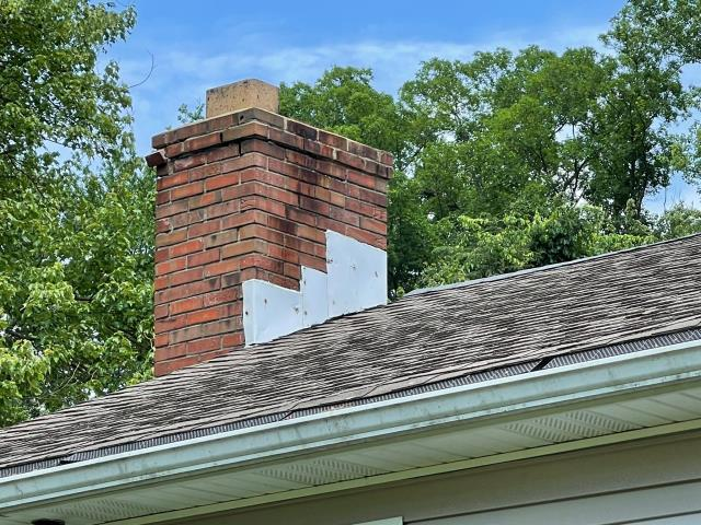 Trumbull, CT - This home in Trumbull is looking to repair its chimney. As you can see it is weathered and in need of some TLC.