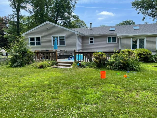 Trumbull, CT - This home is looking to update its family outdoor space by upgrading the patio. The new patio will use TimberTech AZEK decking in order to avoid weathering and damage from the elements.