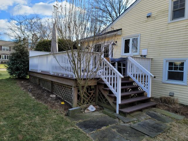 Stamford, CT - This Stamford home will be getting a complete exterior upgrade! The renovation will feature Marvin Elevate windows, James Hardie fiber cement siding, and a new AZEK deck! The homeowners can't wait to see this transformation come to life!
