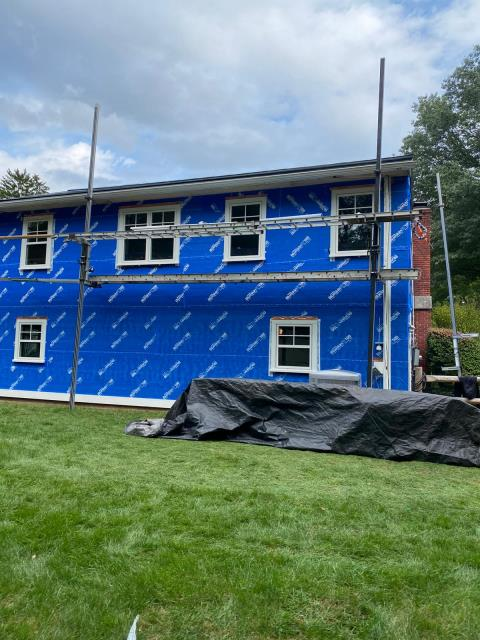 Stamford, CT - Beautiful all new Marvin Elevate windows have been installed at this home in Stamford. Some replacement and some in new spots all together. Such an exciting time for this homeowner.  Next up, new James Hardie siding!