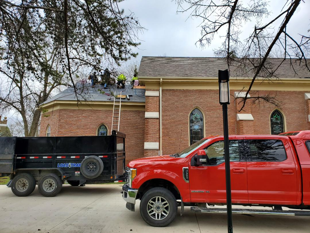 Carver, MN - Re roofing Saint Nicholas church in Carver with Duration Premium shingles By Owens Corning