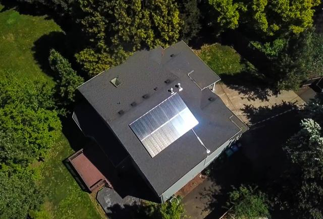 Portland, OR - Solar project installed by Greenlight Solar and Roofing located in Southeast Portland, Oregon.