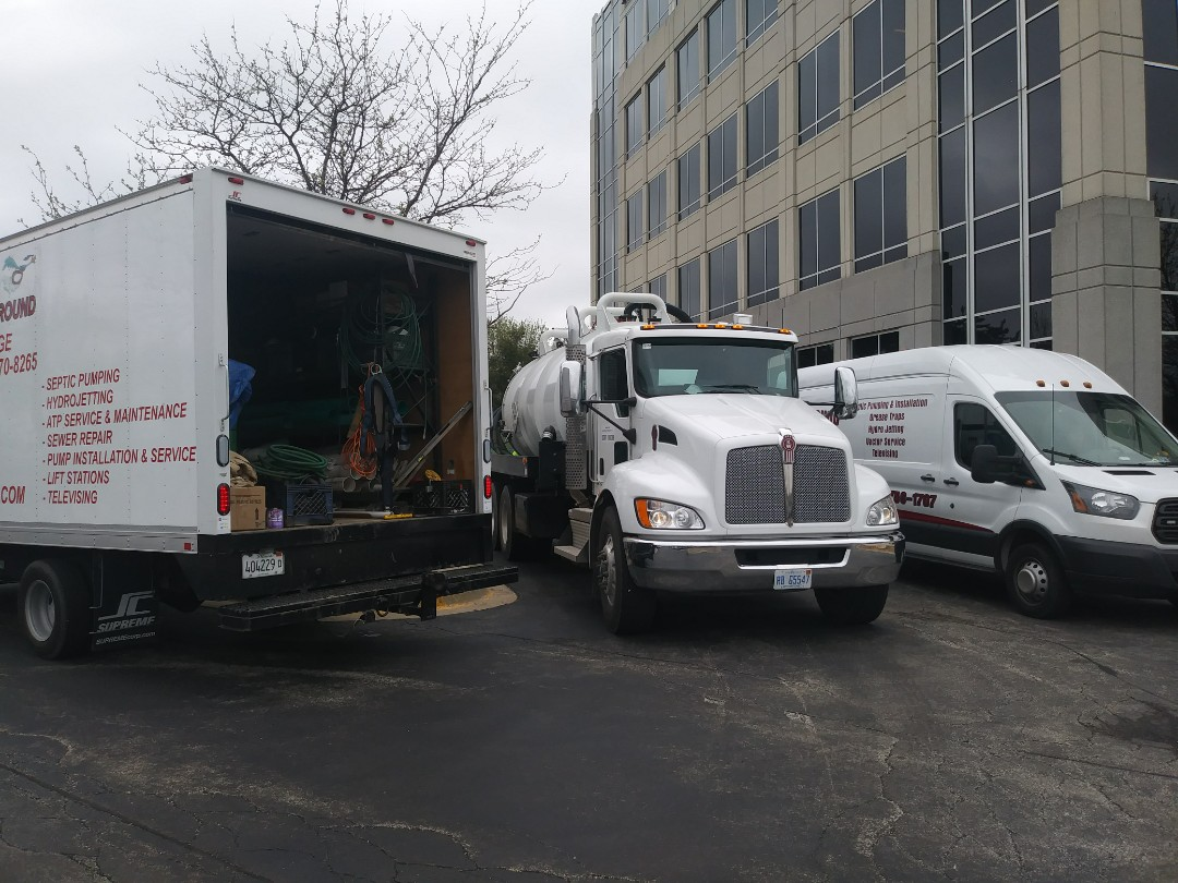 Warrenville, IL - Pump and clean outside grease trap