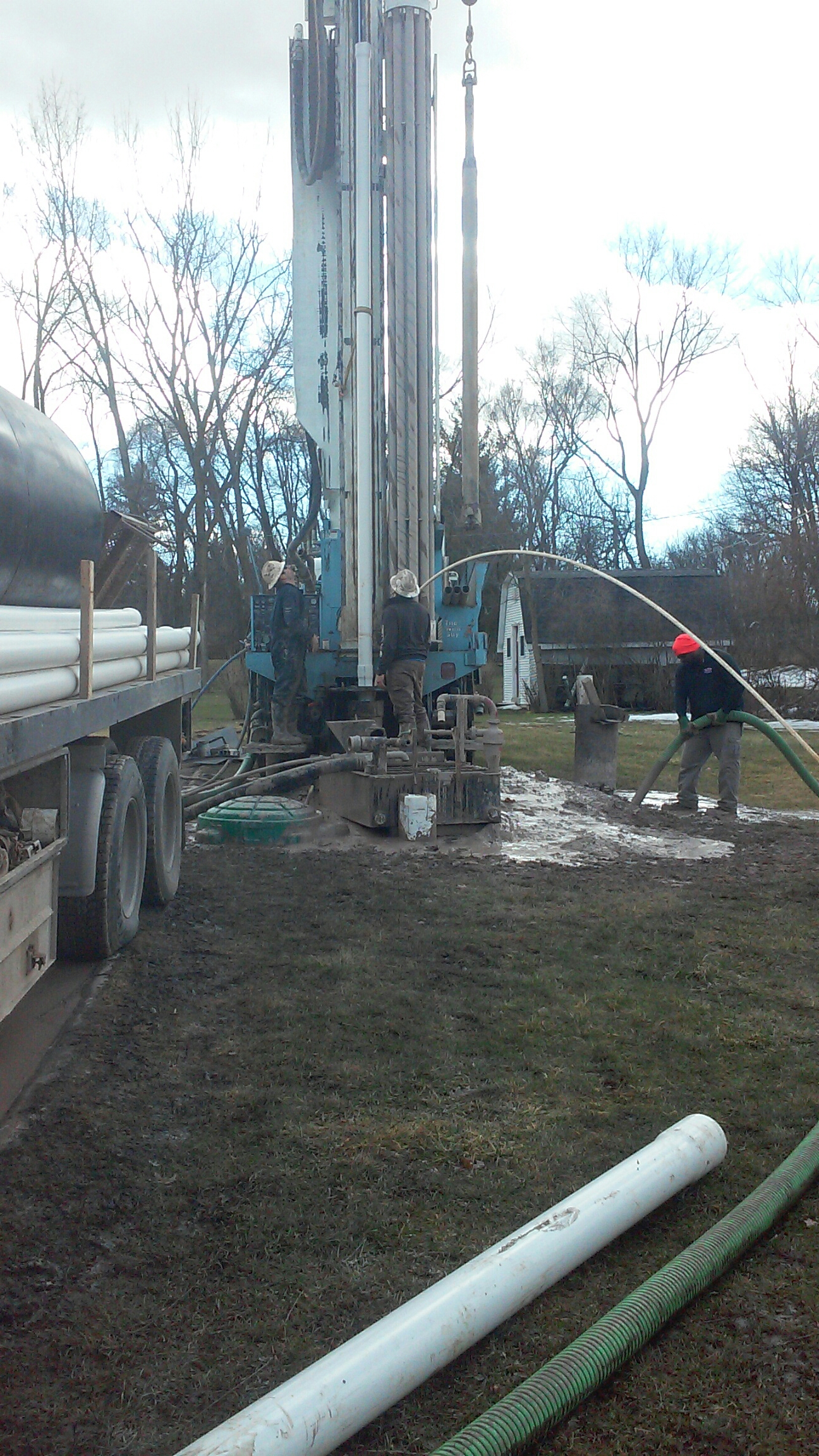 Saint Charles, IL - Pumping water waste from well drilling