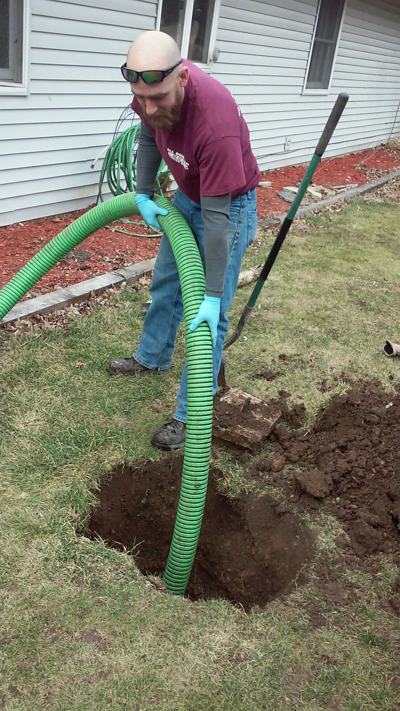 Yorkville, IL - Pumping septic tank and inspection for new home buyers