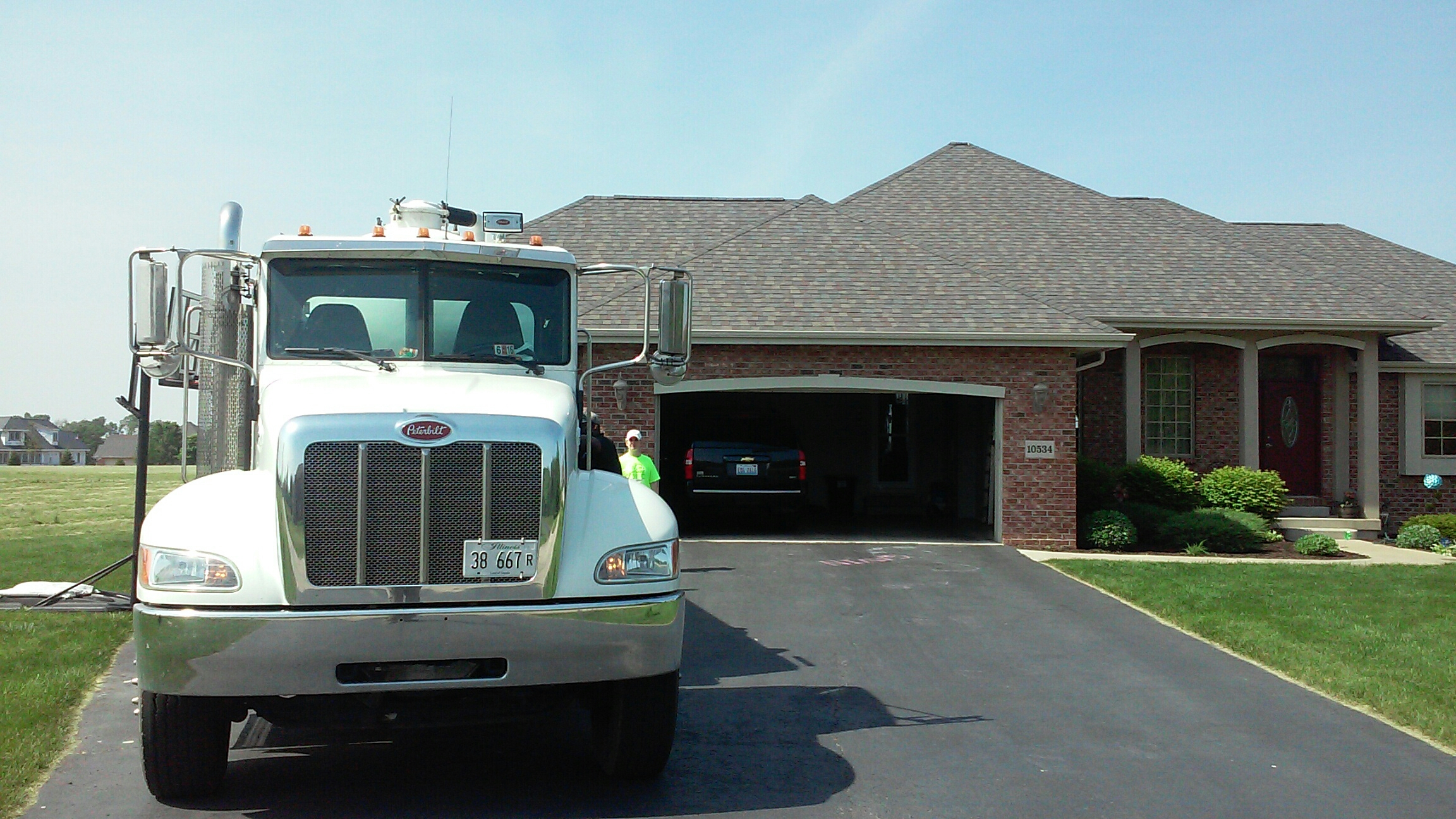 Rochelle, IL - Pumping septic tank
