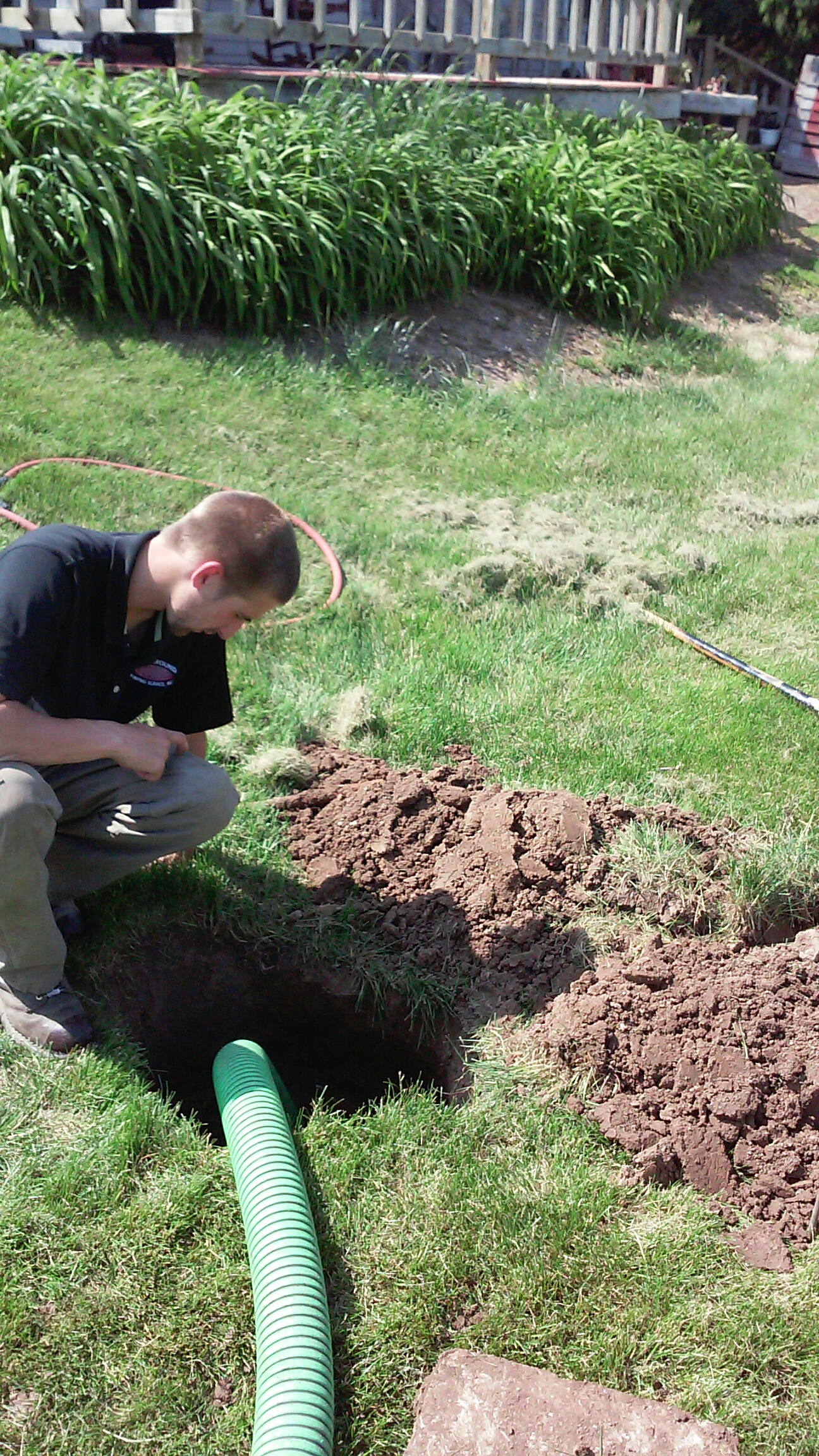 Sycamore, IL - Pumping septic tank