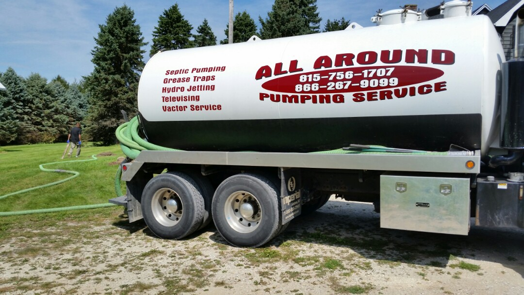 Pumping septic tank