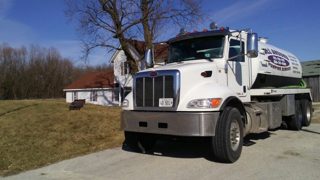 Hinckley, IL - Pump and clean septic tank install riser