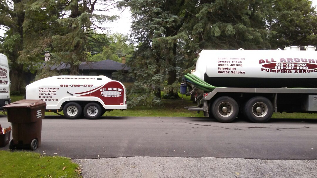 Rockford, IL - Pump and clean distribution box and 3 septic field lines