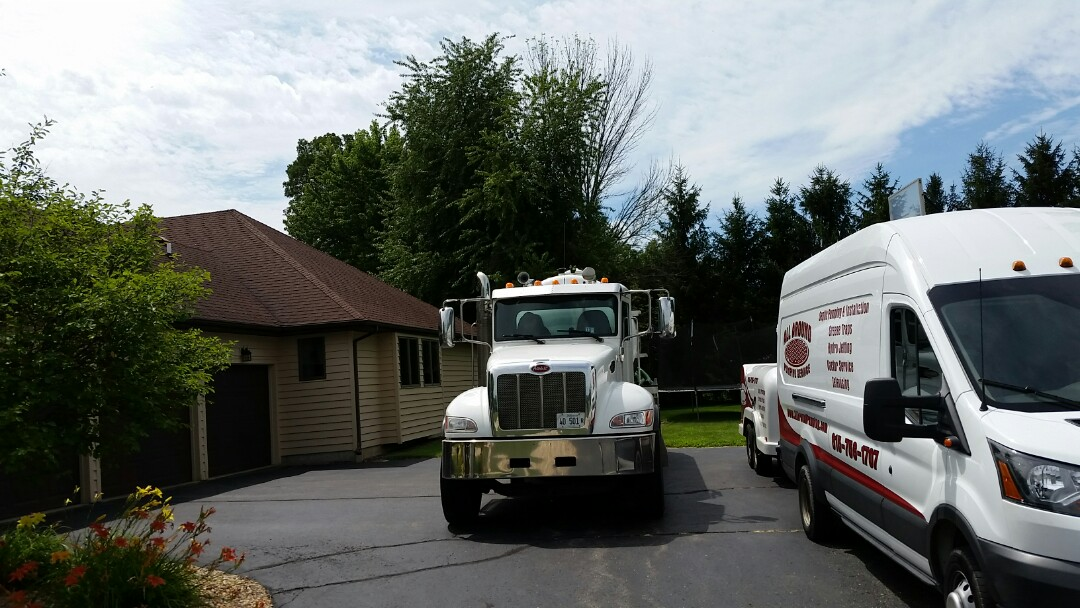 Sycamore, IL - Perform field vac with jetter amd pump truck