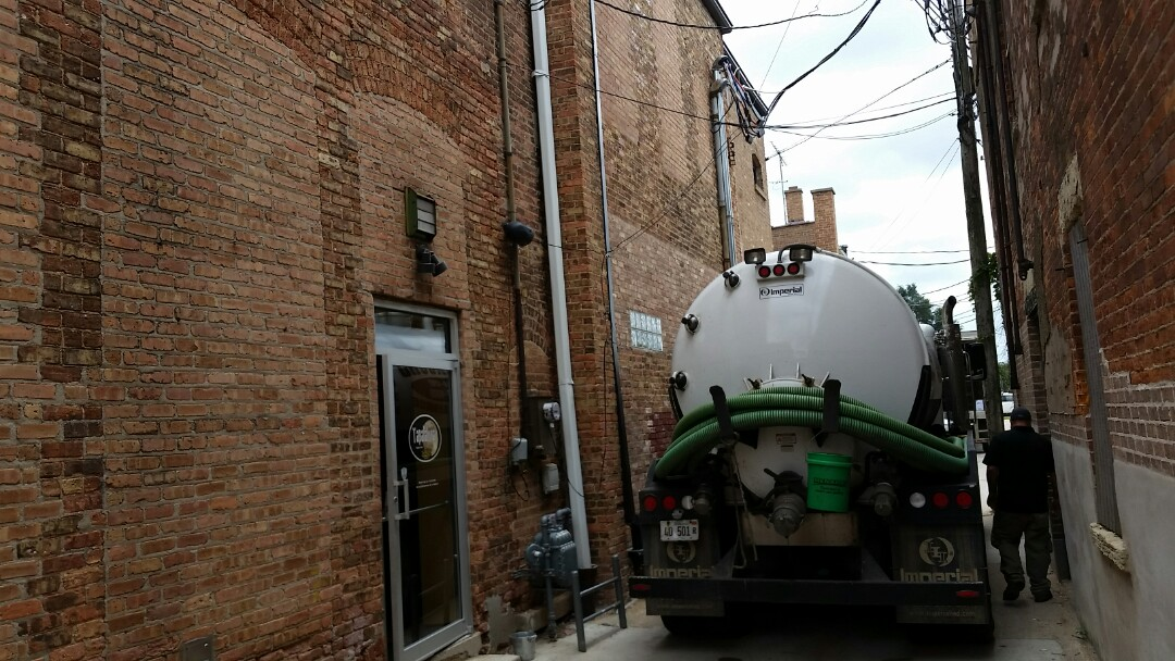 DeKalb, IL - Pump sewage from cleanout to main