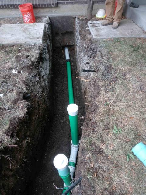 """Lakewood, CO - Interior/exterior (partial line, yard-only): Scope of work to include replacing the sewer line from the interior of the home to the exterior yard. For the interior portion, the repair will begin at the base of the secondary vent stack and will end just past the foundation. The portion of line to be replaced is 30' long and 1'6"""" deep. The diameter of the interior pipe is 2"""" to 3"""". For the exterior portion, an excavator will be used to dig a trench to replace the existing sewer line from the end of the internal replacement to the last flag in the front yard. The portion of sewer line to be replaced is approximately 38' long and 4' to 6'6"""" deep."""