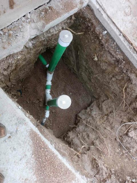 """Westminster, CO - Full line replacement, scope of work to include using a pipe bursting method to install a new sewer line from the cast-to-clay connection to and including a new city tap in the neighbors yard. The sewer line is approximately 4' 5"""" deep at start and 12-13' at the tap . The sewer line is approximately 45' long total."""