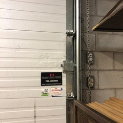 Service Call: Commercial Overhead Door Issue: The door will not lock. Work to be completed: Technician installed new slide lock, lubricated all moving components on the door and tested multiple times for safe and proper operation.