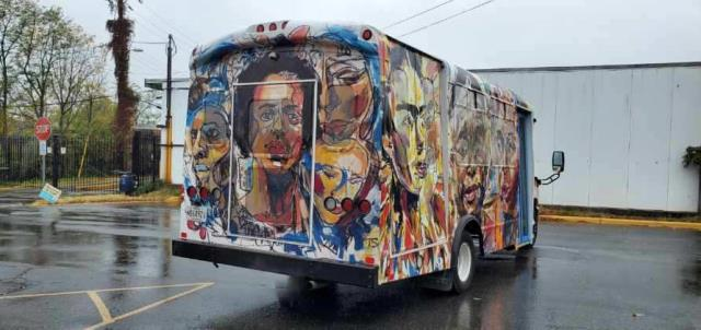 Successfully wrapped some rolling art for the City of Hyattsville, MD this weekend.