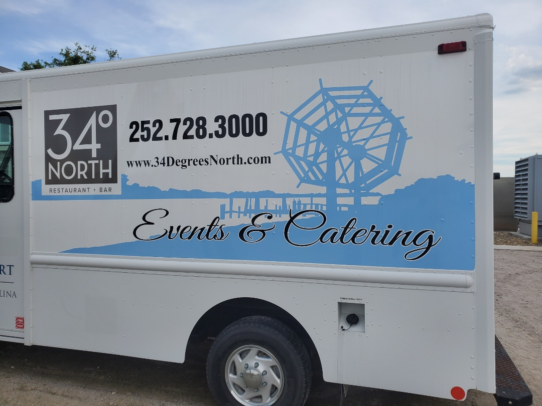 Food trucks partial wraps for catering and events