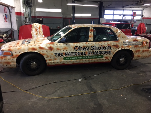 Washington, DC - installed custom vehicle wrap for the Rabbi at the National Synagogue