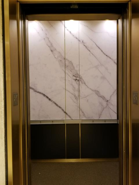 Washington, DC - Wonderful Wall Mural Graphic for inside elevator was just installed in the Bernstein Companies offices.  We can do any design or branding for inside your elevator or on the outside elevator doors.
