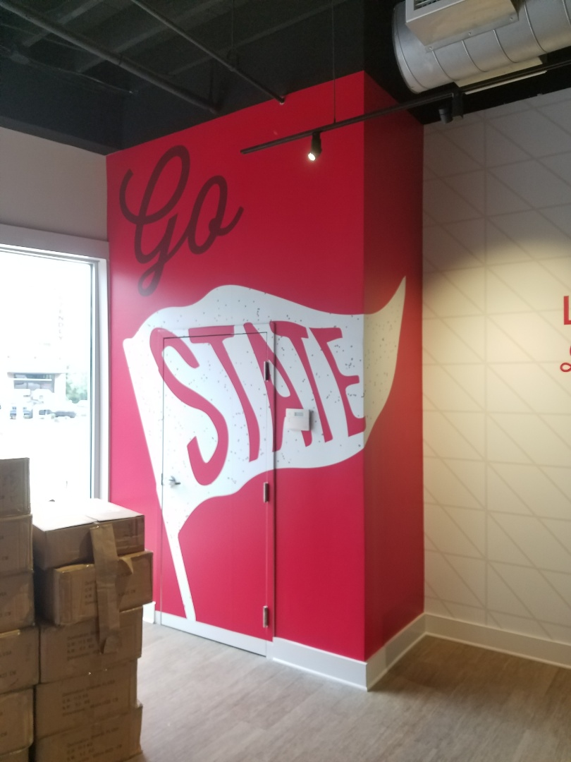 Raleigh, NC - Wrapping graphics and wall murals at NC State.