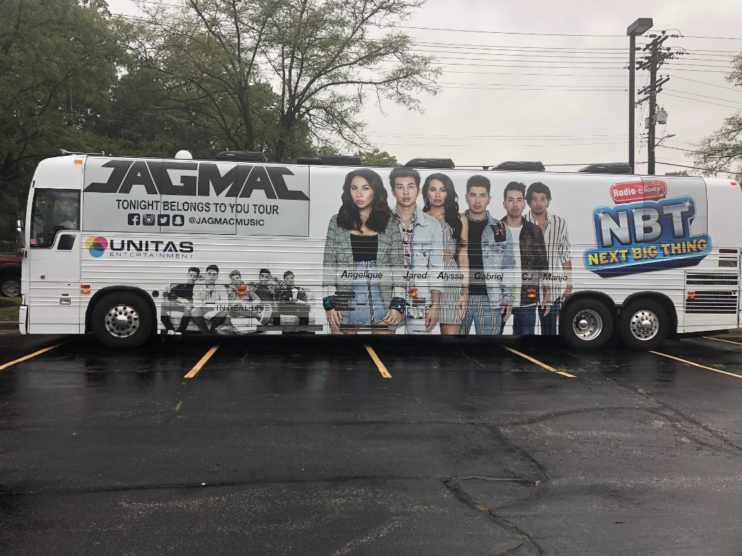 Raleigh, NC - When you're contracted by Disney for a month-long bus tour for the newest hottest band in the country. You absolutely say yes because you know Disney only comes to the best game in town. Full bus wraps by Capital Wraps. #3MCertified