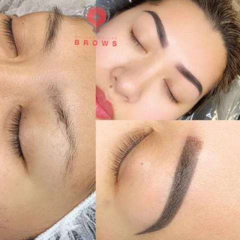 Lowell, MA - Healed ombre brows with minor touch up. Semi permanent makeup eyebrows. Ombre last 1-5 years.