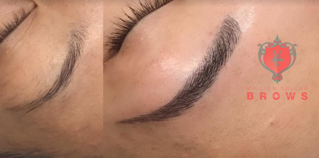 6D microblading procedure: We select a color based on your Skin Undertone, Natural Hair Color, Eyes Color, Natural Brow Color and desired color.