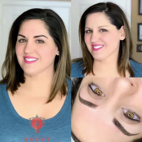 Portsmouth, NH - Ombre powder brows for this beauty.. My client originally wanted 3d microblading eyebrows, permanent makeup. However, she wasn't the ideal candidate for this style. I wanted to give her the perfect eyebrows and shape to match her lifestyle!