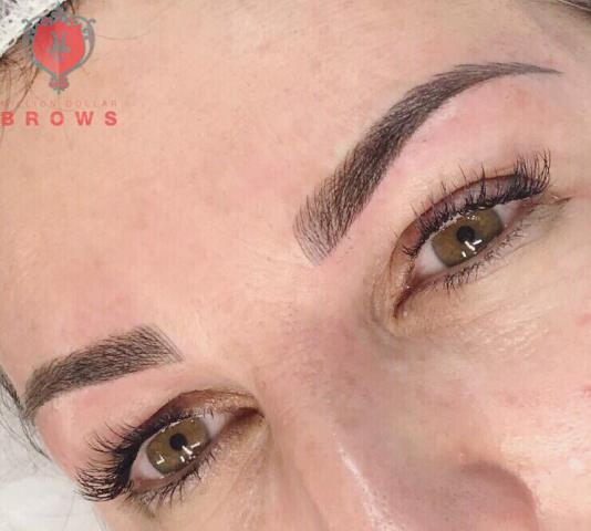 Merrimac, MA - I created microblading and Shading for my client. She wanted natural eyebrows. She was very happy with her permanent makeup result.