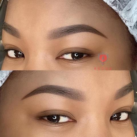 Worcester, MA -  Ombre brows is becoming very popular as more people desire a fuller eyebrows. Ombre powder brows is semi permanent makeup and last 1-3 years. My client was very happy with her brows!