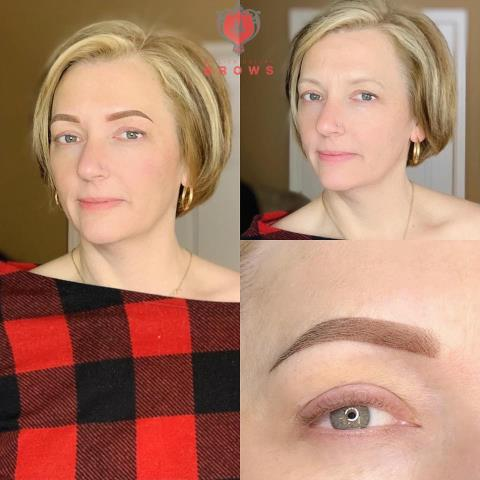 Gilford, NH - Beautiful ombre brow for this lovely client.  #permanentmakeup #eyebrow #brow #microblading #makeup #tattoo #eyebrowtattoo