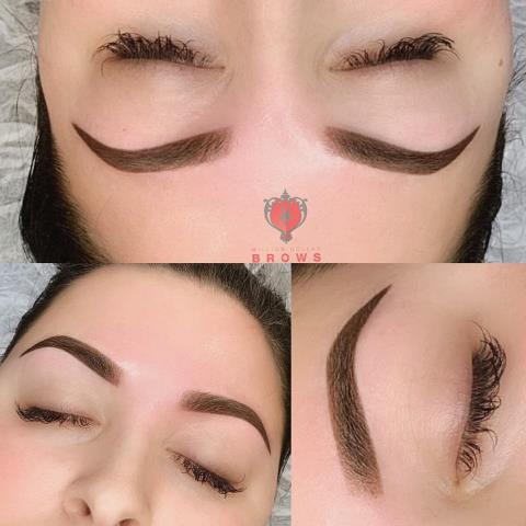Loving this ombre powder brows. Semi permanent makeup.. #permanent makeup #Eyebrows #microblading