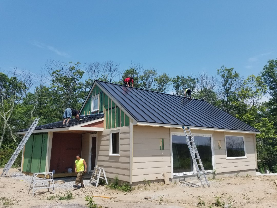 Plainfield, CT - Standing seam metal roof  Higannum ct
