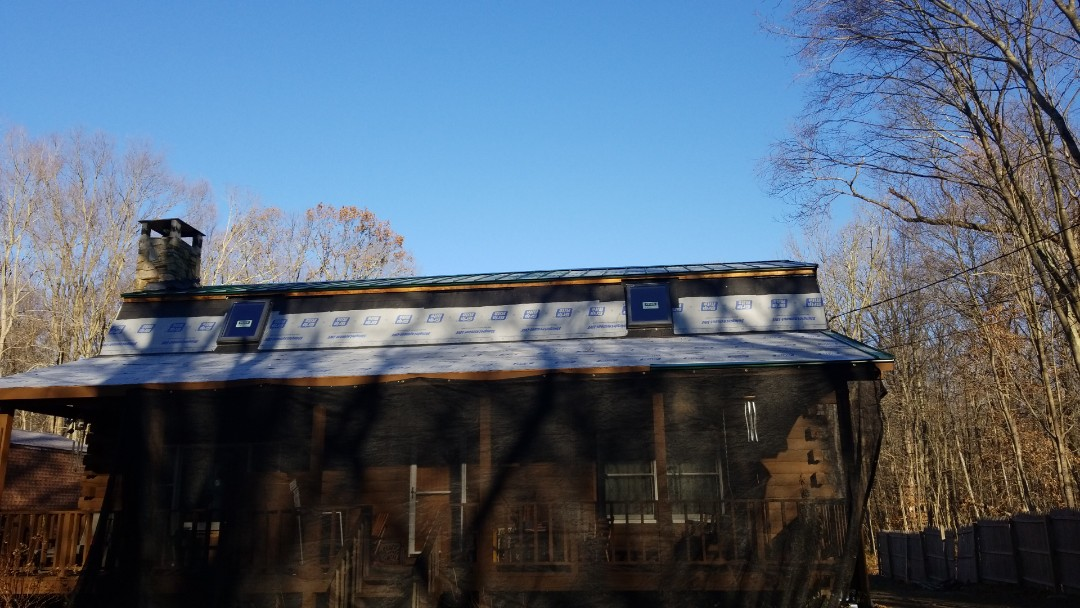 Montville, CT - installing new veluxe skylights along with beautiful metal roof