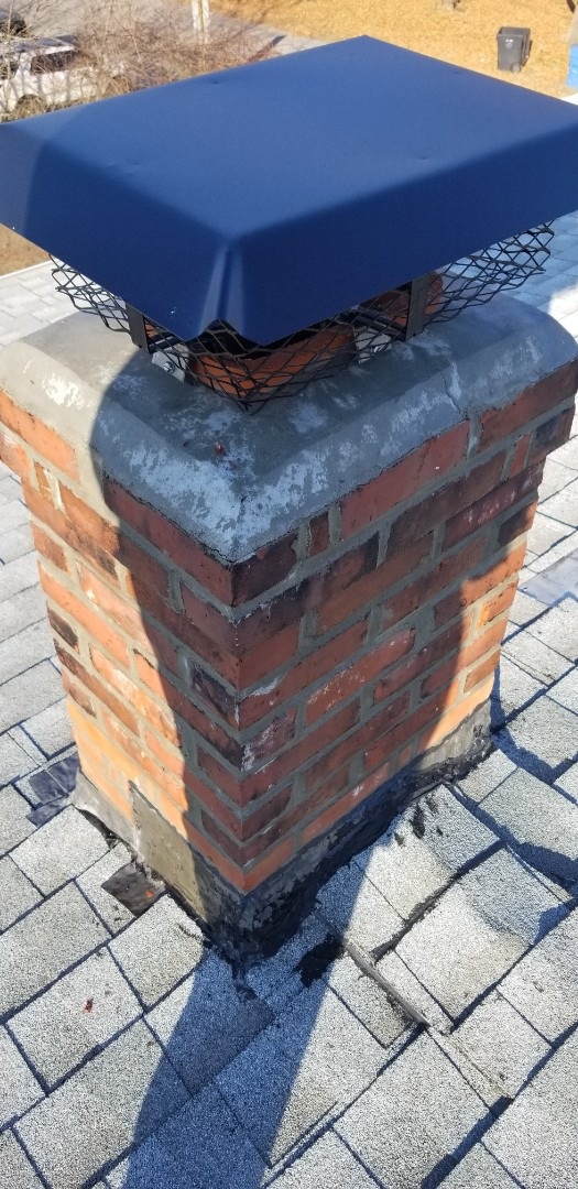 Plainfield, CT - chimney repair the original roofing aka fly by night ? and the so called Mason improperly chimney flashing messy shoddy workmanship.
