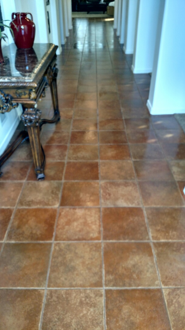 Cleaned carpet, tile & grout for a new PANDA customer in Chandler, AZ 85286.